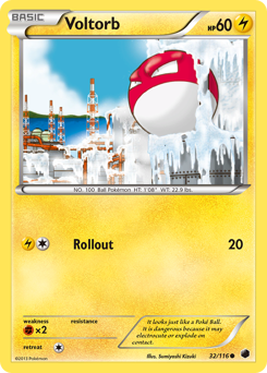 Voltorb card for Plasma Freeze