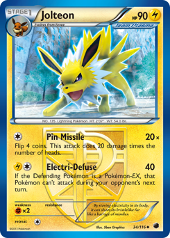 Jolteon card for Plasma Freeze