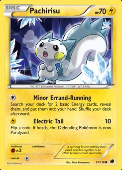 Pachirisu card for Plasma Freeze
