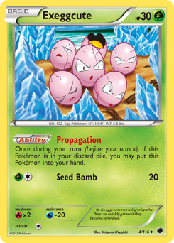 Exeggcute card for Plasma Freeze