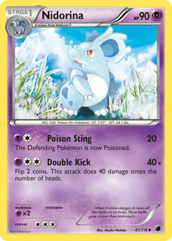 Nidorina card for Plasma Freeze