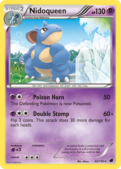 Nidoqueen card for Plasma Freeze