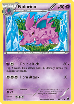 Nidorino card for Plasma Freeze