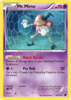 Mr. Mime card for Plasma Freeze