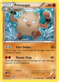 Primeape card for Plasma Freeze
