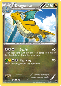 Dragonite card for Plasma Freeze