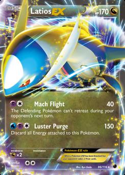 Latios-EX card for Plasma Freeze