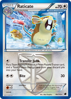 Raticate card for Plasma Freeze