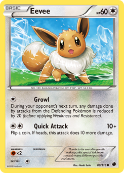 Eevee card for Plasma Freeze