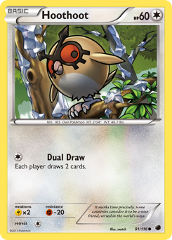 Hoothoot card for Plasma Freeze