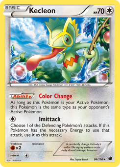 Kecleon card for Plasma Freeze