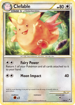 Clefable card for Call of Legends