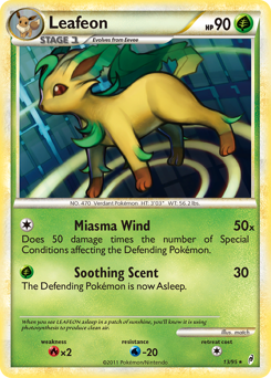Leafeon card for Call of Legends