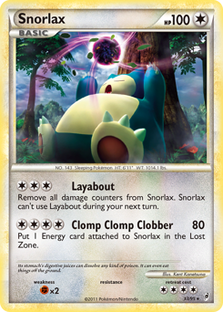 Snorlax card for Call of Legends