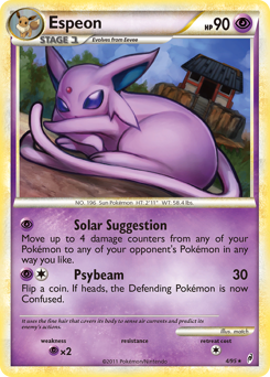 Espeon card for Call of Legends
