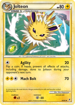 Jolteon card for Call of Legends