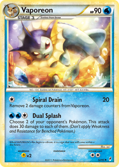 Vaporeon card for Call of Legends