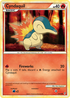 Cyndaquil card for Call of Legends