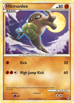 Hitmonlee card for Call of Legends