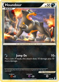 Houndour card for Call of Legends
