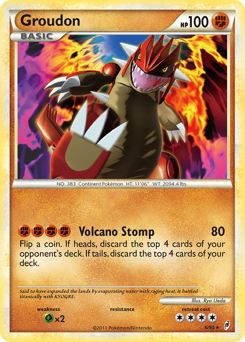 Groudon card for Call of Legends