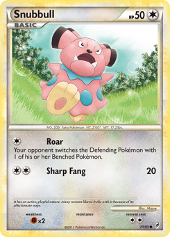 Snubbull card for Call of Legends