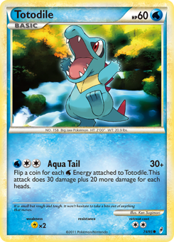Totodile card for Call of Legends