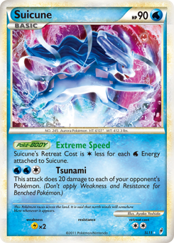Suicune card for Call of Legends