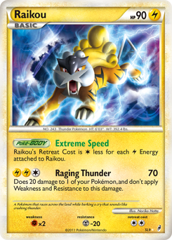 Raikou card for Call of Legends