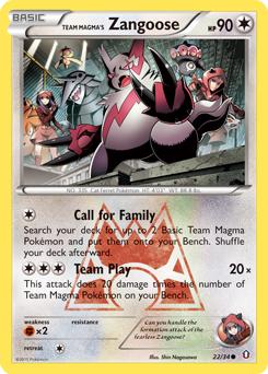 Team Magma's Zangoose