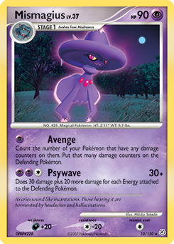Mismagius card for Diamond & Pearl