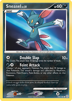 Sneasel card for Diamond & Pearl