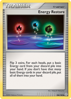 Energy Restore card for Diamond & Pearl