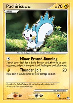 Pachirisu card for Diamond & Pearl