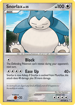 Snorlax card for Diamond & Pearl