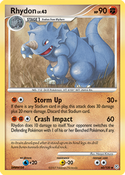 Rhydon card for Diamond & Pearl