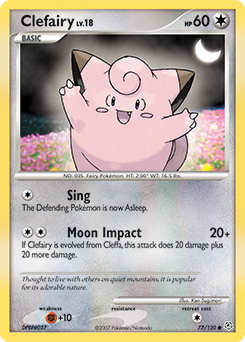 Clefairy card for Diamond & Pearl