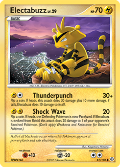 Electabuzz card for Diamond & Pearl