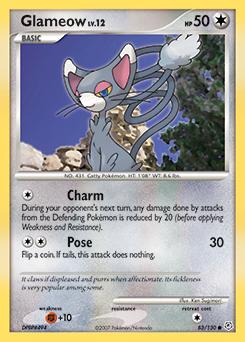 Glameow card for Diamond & Pearl