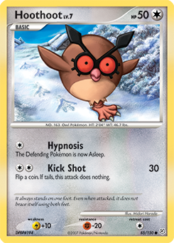 Hoothoot card for Diamond & Pearl