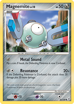 Magnemite card for Diamond & Pearl