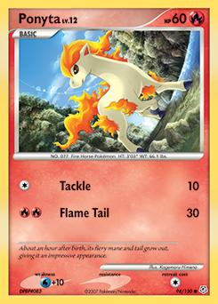 Ponyta card for Diamond & Pearl
