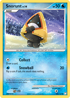 Snorunt card for Mysterious Treasures