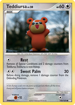 Teddiursa card for Mysterious Treasures