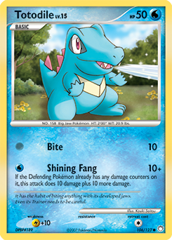 Totodile card for Mysterious Treasures