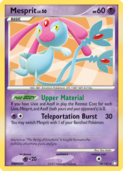 Mesprit card for Mysterious Treasures