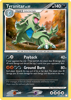 Tyranitar card for Mysterious Treasures
