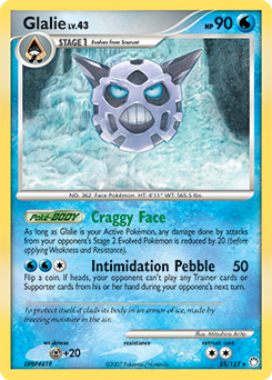 Glalie card for Mysterious Treasures