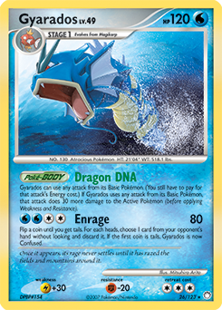 Gyarados card for Mysterious Treasures