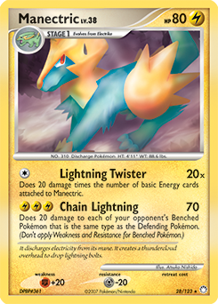 Manectric card for Mysterious Treasures